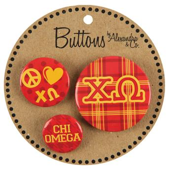 Image For BUTTONS-CHI OMEGA