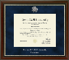 Image for Texas A&M Commerce Chateau Navy Suede Diploma Frame