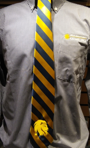 Image For Navy & Gold Tie