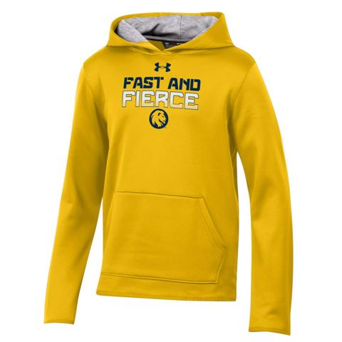 Cover Image For Youth Under Armour Hoodie Gold