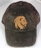 Image for Faux Leather Lion Cap