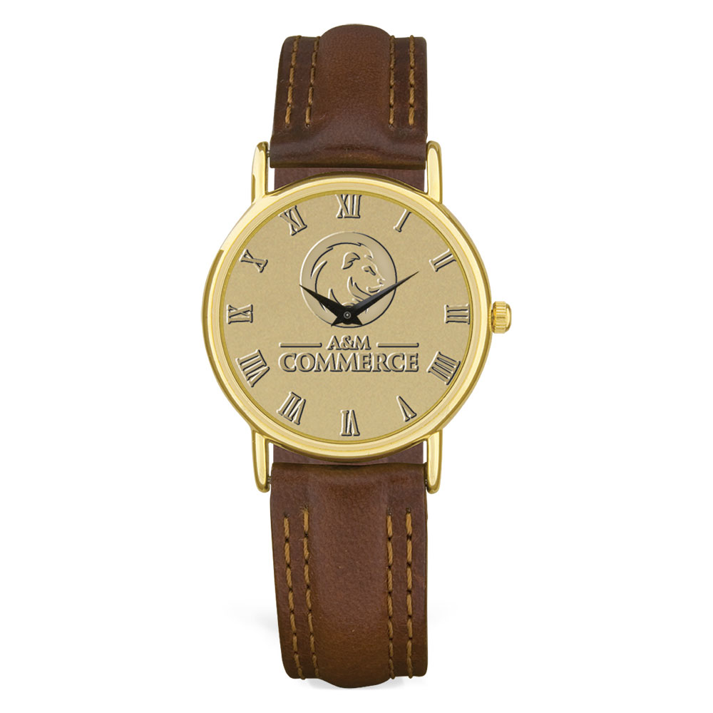 Image For Men's Leather Wristwatch