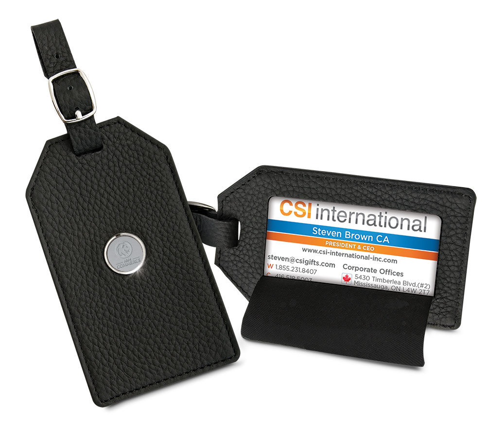 Image For LEATHER LUGGAGE TAG